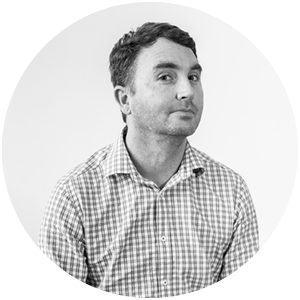 Headshot of Perry, Creative Director at Ten Four