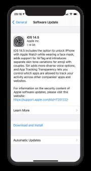 iOS 14.5 Awaiting Installation